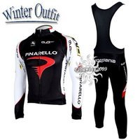 Free Shipping!! WINTER FLEECE CYCLING LONG JERSEY+BIB PANTS 2010 PINARELLO-PICK SIZE:S M L XL XXL XXXL