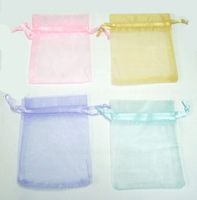 100pcs Organza Jewelry Bag Gift Bag 3.5''X2.5'' Mixed Color Free Shipping! W31*