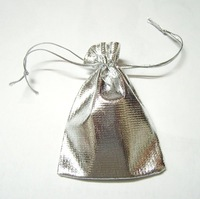 100Pcs/lot Silver Color Jewelry Bag Gift Bag For DIY jewelry Gift Crafts Free Shipping!  4.6''X3.9'' W35