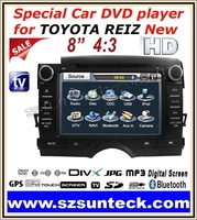2011 New Special car dvd player using for TOYOTA Reiz 2011 with 8 inch digital screen+GPS+2G SD Map card+IPOD+RDS+Bluetooth