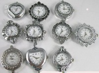 30PCS Mixed styles Silver Quartz Watch face for beading #11607-17 Free shipping