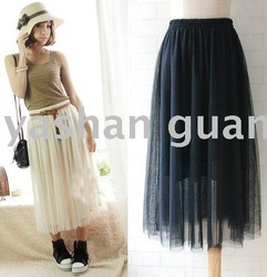 European Bohemian Gauze Skirt,Fantasy Skirt Fantasy Chiffon long skirt,Maxi Sheer Skirts/dress,tulle,nude skirt&Free Shipping(China (Mainland))