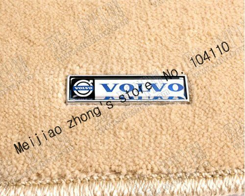 Free shipping 1pcs 60*14mm High quality Volvo Car carpet marks sticker 3d car logo sticker Stereo feeling customize League(China (Mainland))