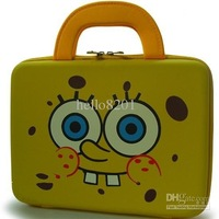 --NEW !!!Sponge bob Squarepants laptop case,for 10-inch laptop,yellow 10piece/lot
