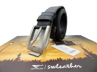 Wholesale.Septwolves men' Brand leather belt.new cow hide belt  high quality,genuine cowskin Pin buckle belts