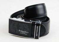 Wholesale.Septwolves men leather belt.new brand cow hide belt  quality hot sales.cheap.genuine.for man