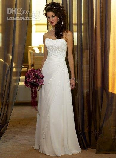 Women's Wedding Dress All Size,All Color--- #A538 New Style Strapless(China (Mainland))