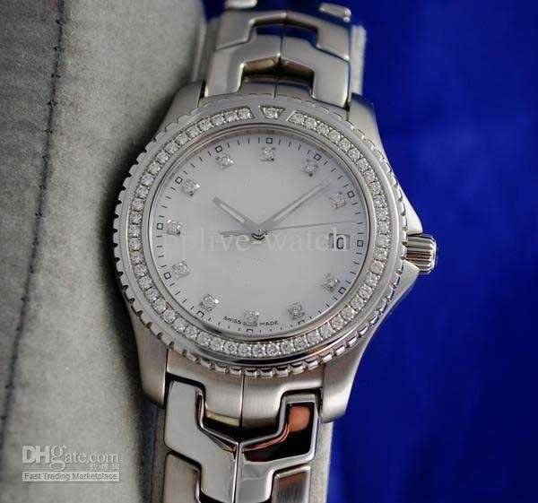 Men's LINK Watch DIAMOND DIAL & BEZEL WJ1117 Men watches Wristwatch Formula One(China (Mainland))