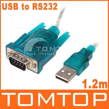 5pcs USB to RS232 Serial 9Pin DB9 Cable Adapter PC PDA GPS, Free Shipping