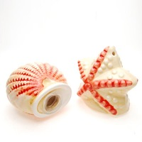 NEW  Free shipping ceramic starfish &seashell pepper set/ ceramic salt and pepper pot set/ wedding gift