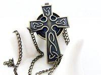 Retro/han edition/necklace/sweater chain/tan/cross pocket watch
