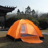Camping Tent 4 Person Double Layer Tent Two Doors Tent