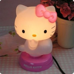 NEW Baby Room Hello Kitty Night Sleeping Light Lamp(China (Mainland))
