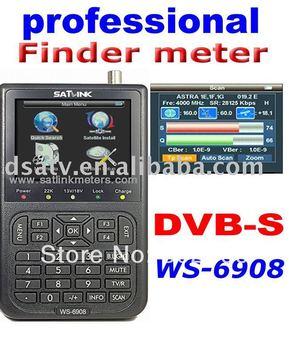Free shipping ! New version ws6908 Satlink Digital Finder Satellite Meter Satellite TV Portable