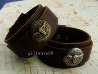 Fashion unisex cow head leather bracelet Bracelets wristband bangle cuff  J0002