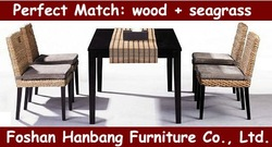 wooden dining table with rattan chair(China (Mainland))