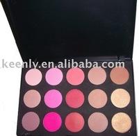 Free shipping for Eastern Asia Market /15 Shade Blush palette  /poudre bronzante/ EVA insert /48pcs/lot /