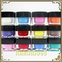 FREE SHIPPING Solid Colors Opaque Mix UV Builder Gel Nail Art 12x 8ml K446