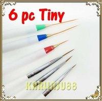 FREE SHIPPING 6 Tiny Acrylic French Nail Art Pen Brush Painting Tools K365