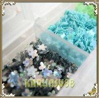 FREE SHIPPING Flower Glitter Paillette Spangles Nail Art 12 Colors K346