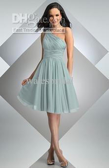 Gown Quinceanera Dress59 Hotsell Chiffon Ruffles One-shoulder Short WeddingDress Bridal Gown Evening