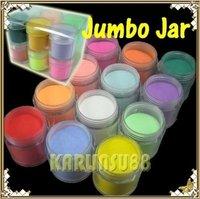 FREE SHIPPING 12 Colors Acrylic Powder Builder Nail Art Jumbo Size