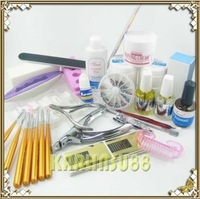 FREE SHIPPING UV Gel Nail Art Professional Full Kit Set Nourishment K155