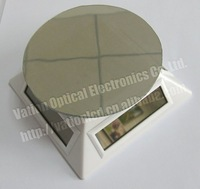 Free Shipping:Solar Turntable Rotary Display Stand with Mirror plate,solar energy power,360 degree rotate, PN-038 white