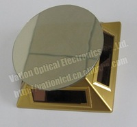 Free Shipping:Solar Turntable Rotary Display Stand with Mirror plate,solar energy power,360 degree rotate, PN-038 golden
