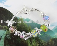 FREE SHIPPING 3PCS European Style Animal Bead Charm Toggle Bracelet #20014