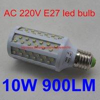 AC 220V 10W 108SMD 3528  E27 900lm white LED bulb LED light LED lamp fast shipping best price