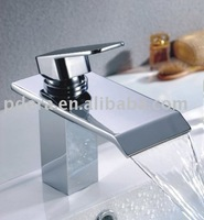brass square waterfall basin faucet, with good quality, 5-year warranty