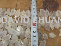 120 NATURAL CLEAR QUARTZ CRYSTAL ORIGINAL Point Wand Healing Free Shipping