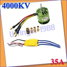 4000KV Brushless Motor For All ALIGN TREX T-rex 450 &amp;amp; 35A ESC for rc helicopter via Registered mail +Free shipping(China (Mainland))