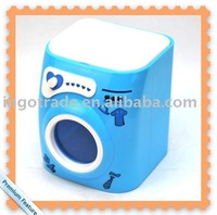 Washing Machine Style Storage Bin/Coin Bank /Money-Box