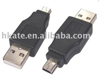 100pcs USB 2.0 A MALE TO MINI 5PIN ADAPTER