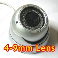 Security 1/3 Sony CCD 420TVL Camera Varifocal 4-9mm Surveillance Vandalproof Infrared Camera E53