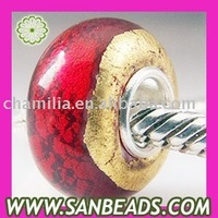 5pcs/lot,Free Shipping Wholesale 925 Sterling Silver Murano Glass Beads accept mix order