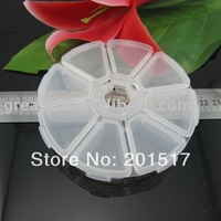 [2pcs/lot] Free shipping rhinestones round storage box a must for nail art 8boxes per piece