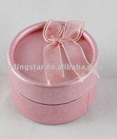 FREE SHIPPING 10 Pink round ring box display case 54mm #19969