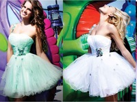 2015 hot selling freeshipping  the new Style organza retail or wholesale one-shoulde  Casual dress