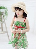 Free shipping kids dress Korean style princess dress, Cute girl Dress, children's clothing 10/lot 2color 100-140