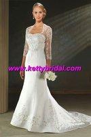 Free shipping  new arrival lace  wedding 1/2 short sleeve coat / wedding jacket