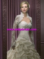 Free shipping  new arrival good selling lace wedding long leeve coat / wedding jacket