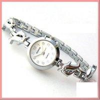 Free shipping 1 pcs / lot new kimio watch ,Quartz Wrist watch silver dolphin BRACELET LADIES WATCH  #k1