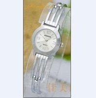 Free shipping 1 pcs / lot new kimio watch ,Quartz Wrist watch SILVER COLOR diamond BRACELET LADIES WATCH  #k30