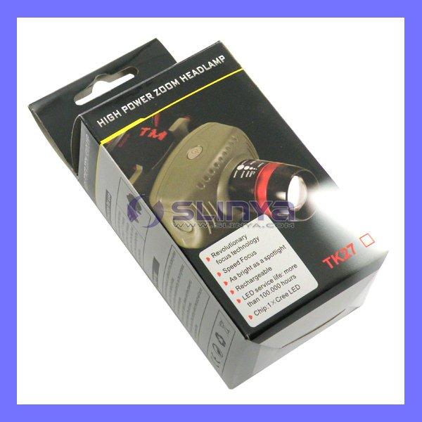 3 x AAA Battery Q3 Cree LED Head Torches/Flashlight(China (Mainland))
