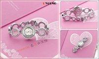 Free shipping 1 pcs / lot new kimio watch ,Quartz Wrist watch SILVER COLOR Rounded BRACELET LADIES WATCH  #k46