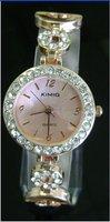 Free shipping 1 pcs / lot new kimio watch ,Quartz Wrist watch GOLDEN COLOR Rounded BRACELET LADIES WATCH  #k206G