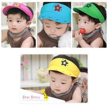 Children's hats kids caps cornet boys hat hoody cap bonnets girls berets sunbonnet sun helmet TZ566